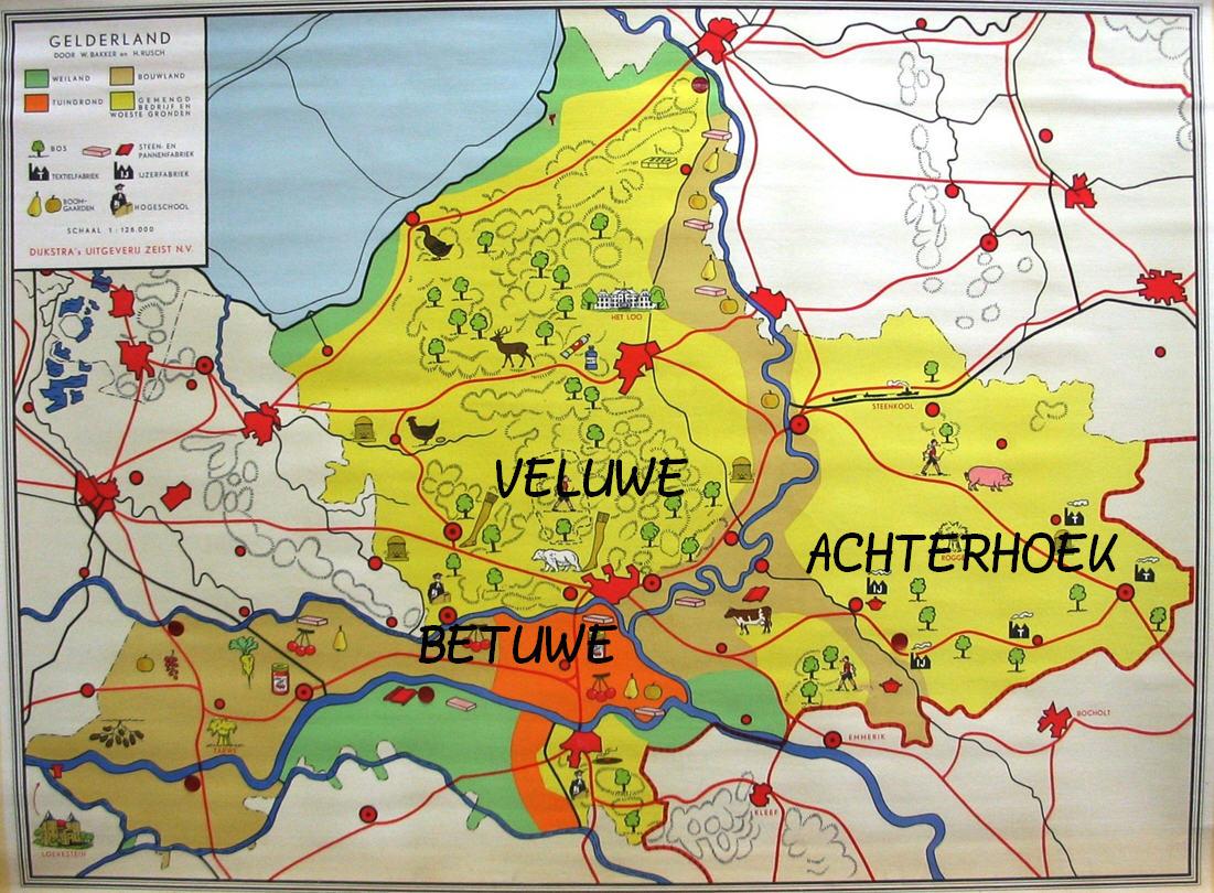 gelderse streken kaart